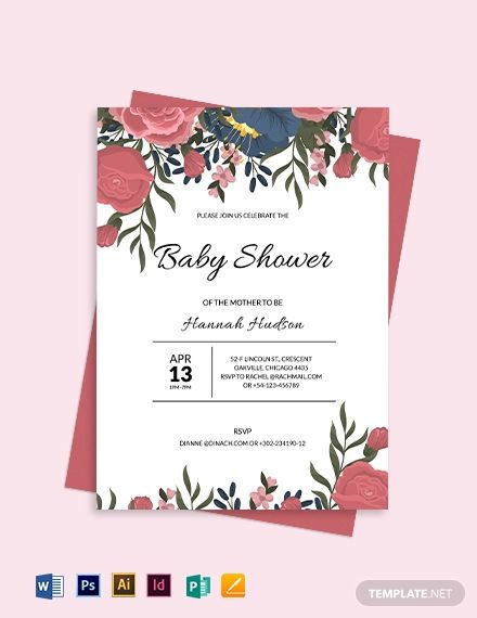 Floral Baby Shower Invitation Template Free Wedding Invitation Templates Free Wedding Invitations Wedding Invitation Templates