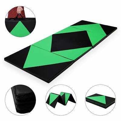 Details About 4 X10 X2 Gymnastics Mat Thick Folding Panel Gym Exercise New 2016 Green Black Gymnastics Mats Gymnastics Tumbling Mat Gym Workouts