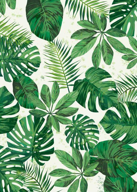 'Tropical Pattern' Poster | art print by Tomasz Dąbek | Displate