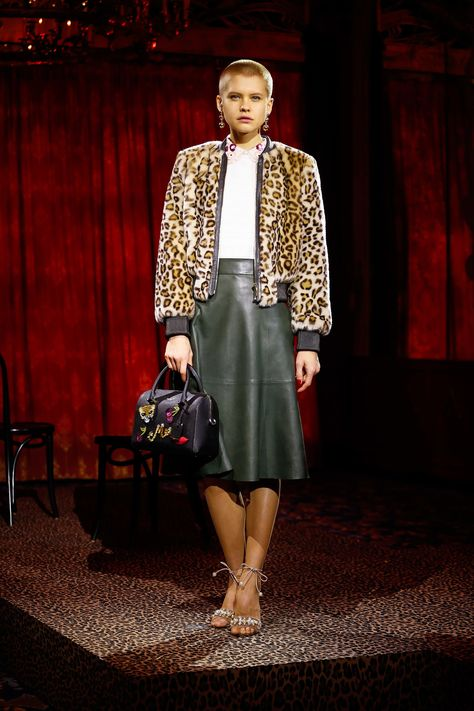 See the complete Kate Spade New York Fall 2017 Ready-to-Wear collection  leopard print jackets with short/no pile are on many many runways