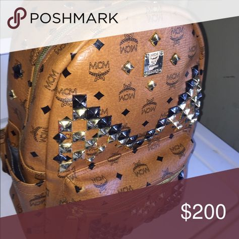 Mcm backpack Used Friends bag low price cause idk if Authentic xHmm any questions no mercari  🅿️🅿️ or Western union discount Hmu Very nice Cognac MCM Bags Backpacks