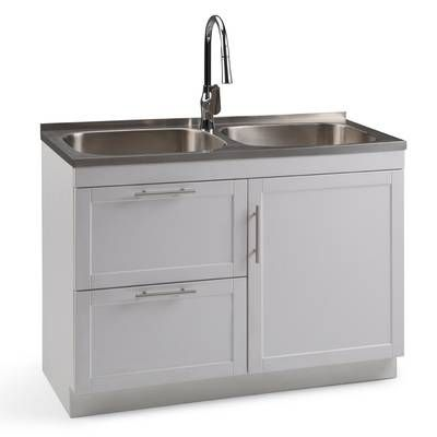 Hennessy 23 6 X 19 7 Freestanding Laundry Sink With Faucet