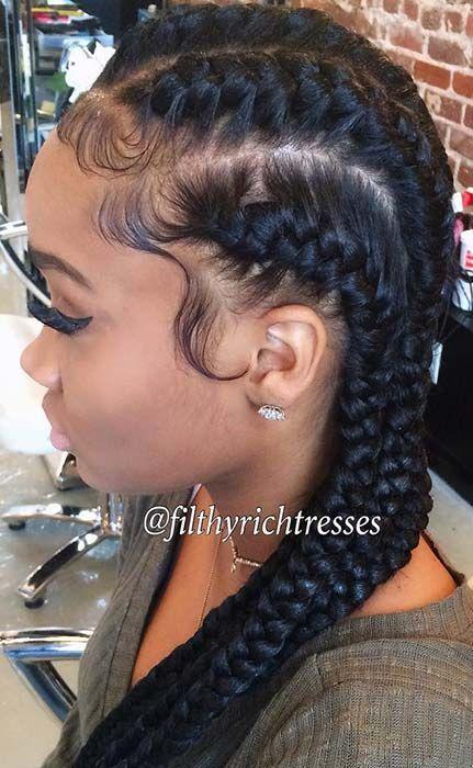 51 Goddess Braids Hairstyles For Black Women Page 4 Of 5 Stayglam Goddess Braids Hairstyles Hair Styles Cornrows Natural Hair
