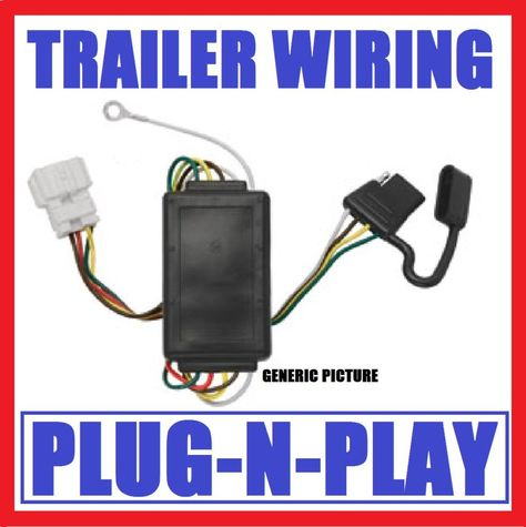 trailer hitch wiring fits 94-98 jeep grand cherokee plug play wire harness