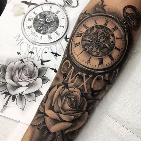 37 Ideas For Eye Tattoo Design Clock In 2020 Clock Tattoo Pocket Watch Tattoos Tattoo Designs