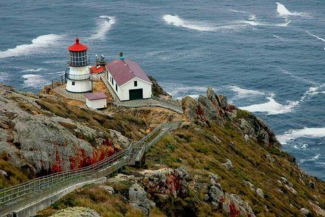 Point Reyes Light Farallones Bay Ca Usa Point Reyes Lighthouse Lighthouse California Beach