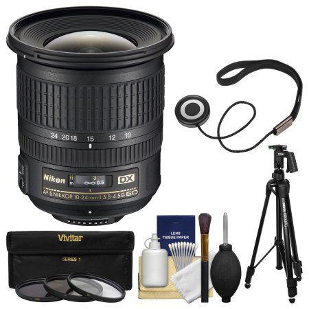 Nikon 10 24mm F 3 5 4 5 G Dx Af S Ed Zoom Nikkor Lens With Pistol Grip Tripod 3 Filters Kit For D3200 D3300 D5300 D5500 D7100 D7200 Cam Lens D7200 D3300