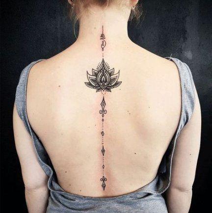 Tattoo Ideas Female Mandala Lotus Flowers 54 Ideas Spine Tattoos For Women Back Tattoo Women Tattoos
