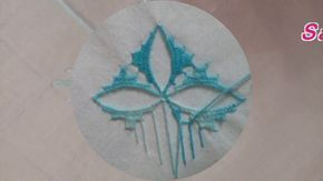 الطرز التركي تطريز يدوي بالابرة غرزة الوردة Youtube Mexican Embroidery Designs Hardanger Embroidery Embroidery Stitches
