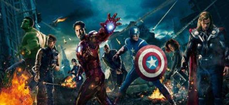 Avengers Marvel Superheroes Captain America_Hulk_Iron-man_Black Widow_Thor 12 feet x 5 feet / 366cm