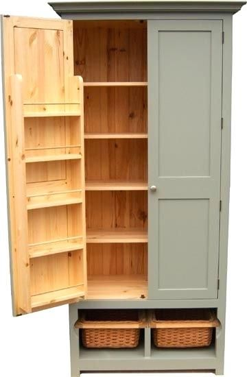 kitchen pantry cabinet freestanding free standing pantry ...