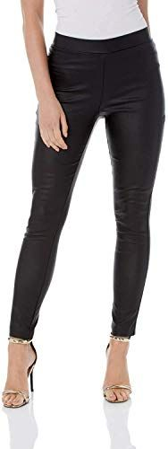 New Roman Originals Women Faux Leather Trouser in Regular Length - Black 18. Fashion Womens Pants [$36]findgreatdesigns