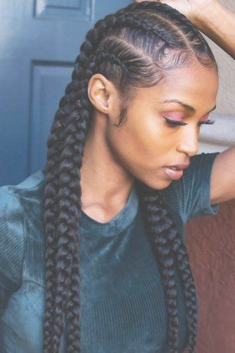 Top 40 Best Box Braid Bun Trends 2020 20 Trend Black Braided Hairstyles For 2020 Lon Short Natural Hair Styles Natural Hair Styles African Braids Hairstyles