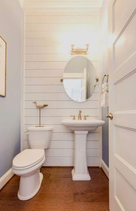 Best Narrow Bath Room Layout Double Sinks 13 Ideas In 2020 Small Half Bathrooms Half Bathroom Decor Simple Bathroom Remodel