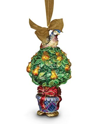 Jay Strongwater Christmas Ornaments 2020 Neiman Marcus Jay Strongwater Partridge in a Pear Tree Christmas Ornament in