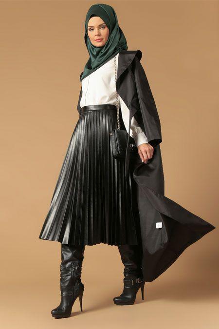Bayan Deri Cizme Modelleri Moda Tesettur Giyim Deri Etek Moda Stilleri Giyim