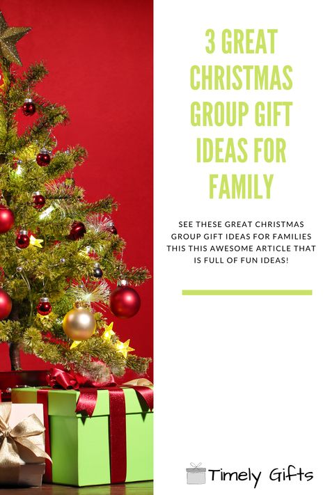 See all these great Christmas gift ideas for family! This article will have 3 great group gift ideas that are perfect for the whole family! If you are looking for a group gift for your family this Christmas, check out these great ideas. #christmas #christmasgifts #groupgifts #familygifts #gift #giftideas #holidayseason #presentideas #christmastime #holidayshopping #familystuff #secretsantagifts