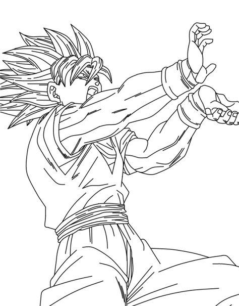 Dibujos De Goku Y Sus Transformaciones Para Colorear En 2020
