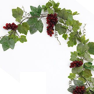 Green /& Purple Acrylic Berry and Grape Garlands
