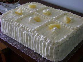 Bolo De Aniversario De Abacaxi Com Creme Receita Bolo De