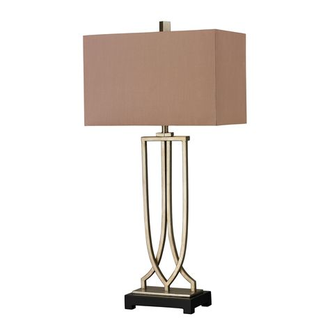 Dimond Lighting Free Form Iron Table Lamp In Antique Silver Leaf Finish D229