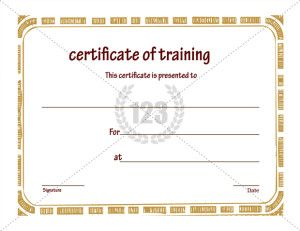 Training Certificate Of Completion Template  Download This