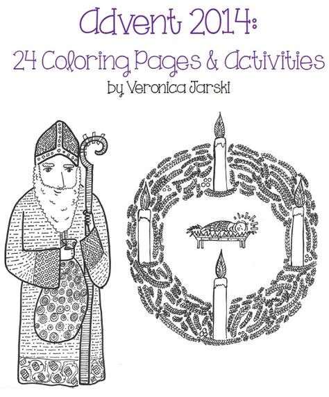 Advent 2014: Coloring Pages and Activities (With images