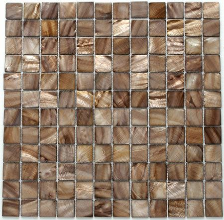 BrownShell S-12 Frosted Glass Mosaic Free Shipping