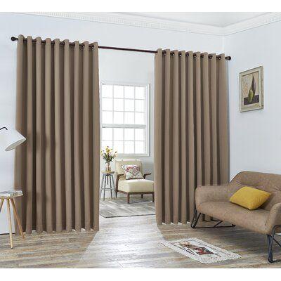 Winston Porter Brodbeck Solid Blackout Thermal Grommet Curtain