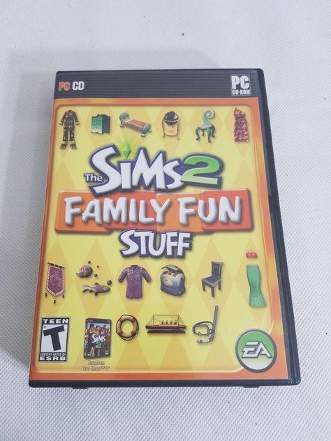 SIMS 2 FAMILY FUN STUFF PC Disc Manual Art And Case EA