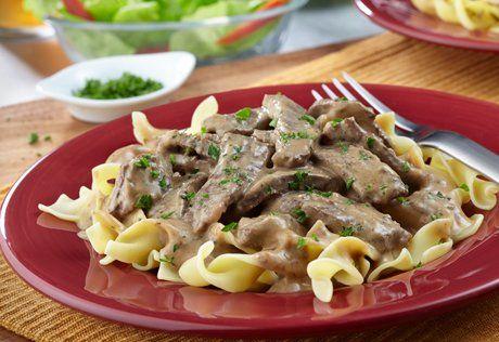 Pressure Cooker Creamy Beef Stroganoff Campbells Beef Stroganoff Beef Stroganoff Portobello Recipes