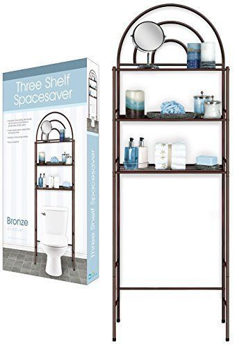 Our Decorative Free Standing Over The Toilet Space Saver Has 3 Shelves To Add Extra Storage Space Saver Dining Table Bathroom Storage Over Toilet Space Savers