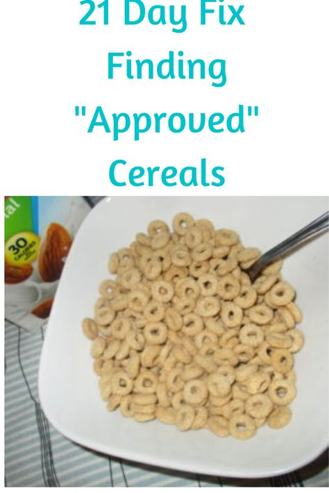 "Need help finding ""approved"" cereals for the 21 Day Fix? Learn what you are looking for on labels and see some examples, so you can shop with confidence! Gluten Free 21 Day Fix, Gluten Free Meal Plan, 21 Day Fix Diet, 21 Day Fix Meal Plan, 21 Day Fix Breakfast, Breakfast Ideas, Healthy Groceries, Healthy Meals, Healthy Eating"