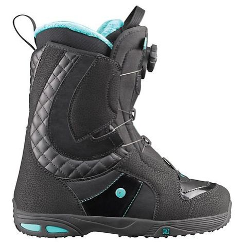 Salomon Ivy Boa Womens Snowboard Boots 2012 Size:8.0 Black