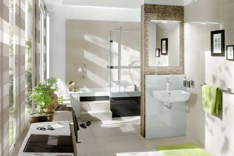 """Duschbadewanne """"Stairway"""" mit verfliesten Aussenstufen von repaBAD"""