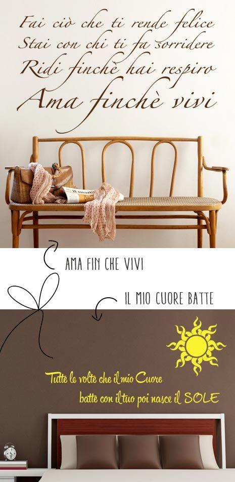 Frasi Da Appendere Al Muro. Adesivo Murale Frase Made With Love ...