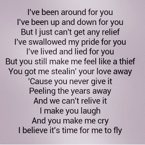 """REO Speedwagon """"Time for me to Fly """" love this song and the lyrics... Ahh, 80's songs!"""