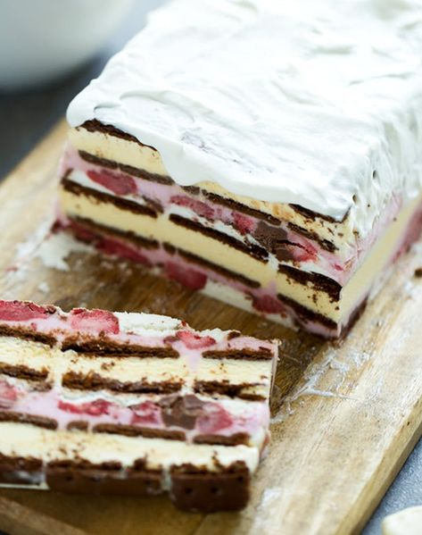Neapolitan Ice Cream Sandwich Cake recipe