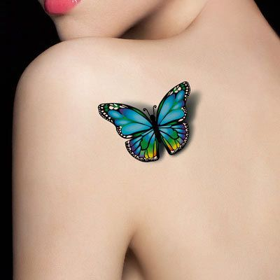 Afbeeldingsresultaat Voor 3d Tattoo Vlinder Tatoeages