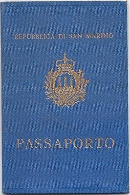 San Marino 1962 passport (Specimen)