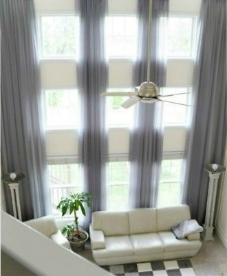 Details About 2 Extra Long Curtains For High Ceiling Sheer Drapes 16 24 Ft Custom Made 2 Story Long Curtains Living Room Extra Long Curtains Long Curtains
