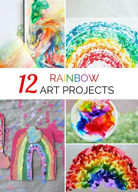 12 Vibrant Rainbow Art Project for Kids.