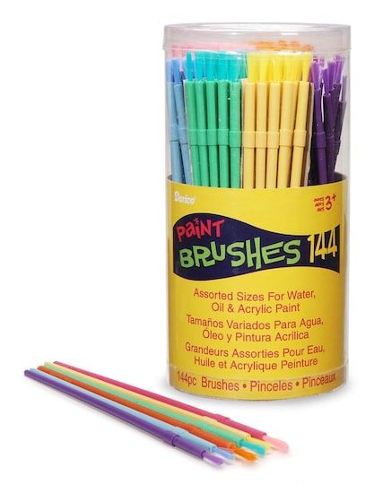 Paintbrush Set Assorted Colors 144 Ct By Darice Michaels
