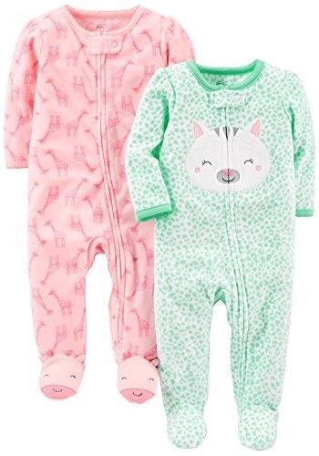 Simple Joys by Carters Unisex Baby Infant-and-Toddler-Sleepers 2-Pack Fleece Footed Sleep and Play