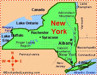 New York Facts Map And State Symbols EnchantedLearningcom New - Georgia map enchanted learning