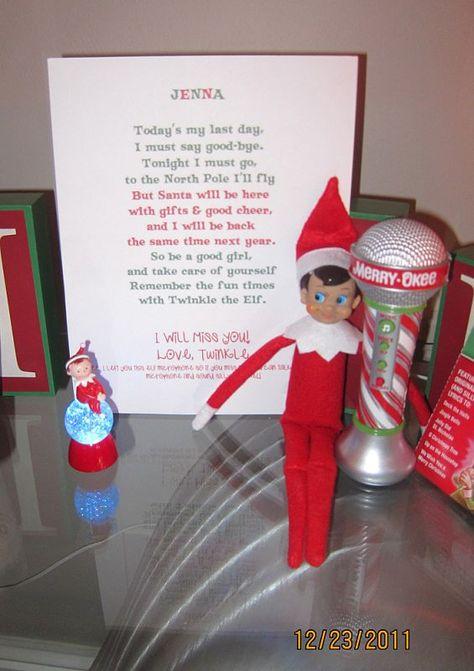 Goodbye letter from Elf....sooo cute!