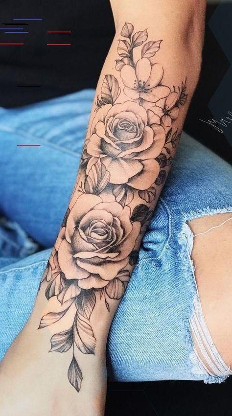 Rosen frauen oberarm tattoo EROSPA® Tattoo