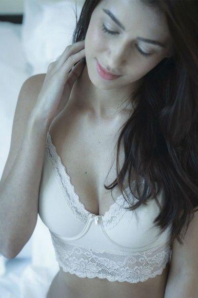 Yasmin Joseph cream lace bra