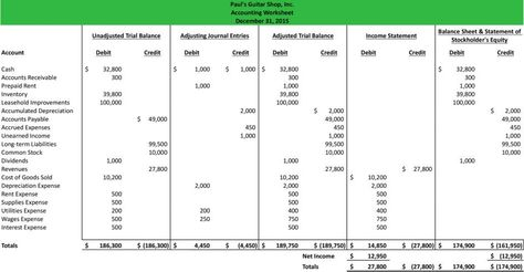 Accounting Spreadsheet Template Free Download Ledger Worksheet