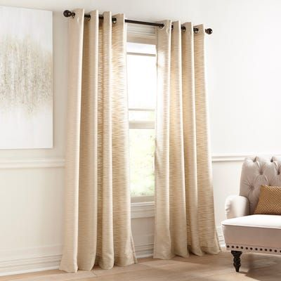 Audrey Shimmer Grommet Gold Curtain Gold Curtains Living Room